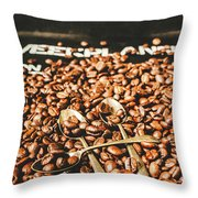 Coffee Service Scene Throw Pillow