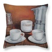 Coffee Set Throw Pillow