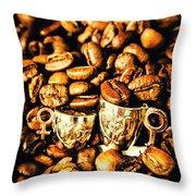 Coffee Shop Companions  Throw Pillow
