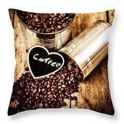 Coffee Shop Love Throw Pillow