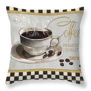 Coffee Shoppe 1 Throw Pillow