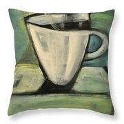 Coffee. Table. 2 Throw Pillow by Tim Nyberg