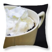 Coffee With Whipped Cream Throw Pillow
