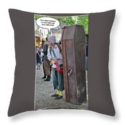 Coffin For Sale Throw Pillow