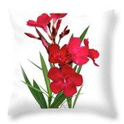 Cog  Nerium Oleander Emile Sahut Throw Pillow