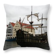 Cog On Wotlawa River Throw Pillow