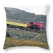 Cog Railway On Top Of Mt Washington Throw Pillow