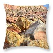 Cohab Rock Garden Throw Pillow