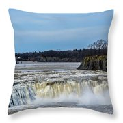 Cohoes Falls New York Throw Pillow
