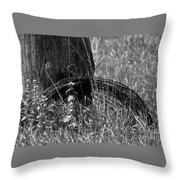 Coiled Devils Rope Throw Pillow