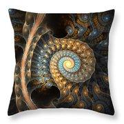 Coiled Spirals Throw Pillow