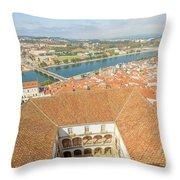 Coimbra Aerial View Throw Pillow