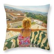 Coimbra Aerial Woman Throw Pillow