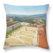 Coimbra University Aerial Throw Pillow