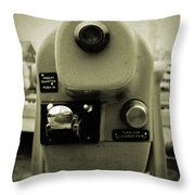 Coin Operated Telescope Throw Pillow