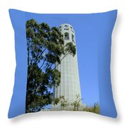 Coit Tower Throw Pillow
