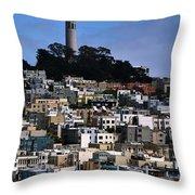 Coit Tower In San Francisco Throw Pillow