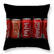 Coke Cans Throw Pillow