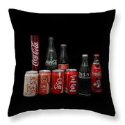 Coke From Around The World Throw Pillow