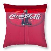 Coke Lollipop Throw Pillow