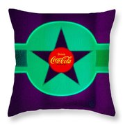 Coke N Lime Throw Pillow