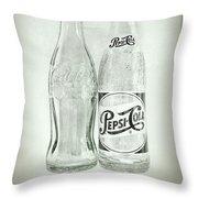 Coke Or Pepsi Black And White Throw Pillow