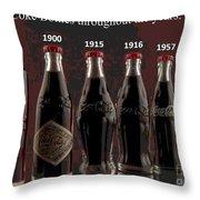 Coke Through Time Throw Pillow