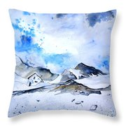 Col Du Pourtalet In The Pyrenees 01 Throw Pillow