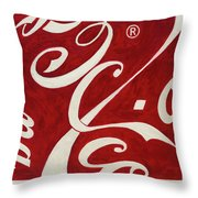 Cola - Coca Throw Pillow