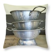 Colanders Throw Pillow