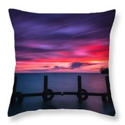 Colchester Harbour Throw Pillow
