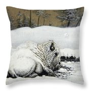 Cold And Tired Throw Pillow