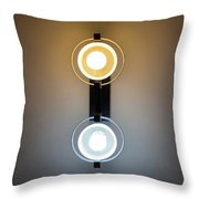 Cold And Warm Light Throw Pillow