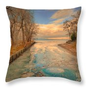 Cold And Warmth Throw Pillow