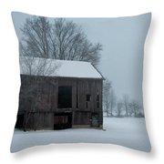 Cold Barn Throw Pillow