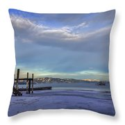 Cold Boat Ride Throw Pillow