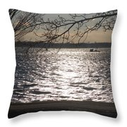 Cold, Bright, And Windy- Before The Freeze Throw Pillow