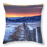 Cold Country Sunrise Throw Pillow