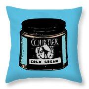 Cold Cream Throw Pillow