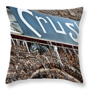 Cold Crush Throw Pillow