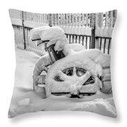 Cold Disposition Throw Pillow