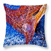Cold Encasement Throw Pillow
