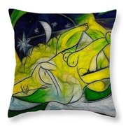 Cold Feet At Midnight Throw Pillow
