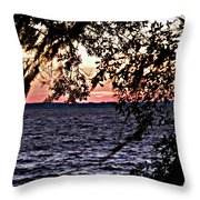 Cold Florida Sunset Throw Pillow
