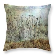 Cold Flowers Throw Pillow