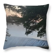 Cold Foggy Morning #2 Throw Pillow