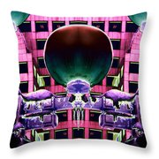 Cold Lights Throw Pillow