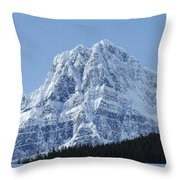 Cold Mountain- Banff National Park Throw Pillow