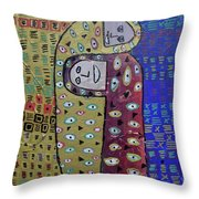 Cold Night Camping Throw Pillow