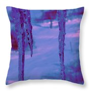 Cold Night Falling Throw Pillow
